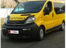 Дефлектор капота Opel Vivaro I /2001-2014, длинный/. Мухобойка Опель Виваро [Vip Tuning]