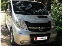 Дефлектор капота Opel Vivaro I /2001-2014, короткий/. Мухобойка Опель Виваро [Vip Tuning]