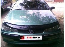 Дефлектор капота Peugeot 406 /1995-1999/. Мухобойка Пежо 406 [Vip Tuning]