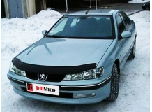Дефлектор капота Peugeot 406 /FL, 1999-2004/. Мухобойка Пежо 406 [Vip Tuning]