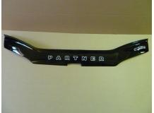 Дефлектор капота Peugeot Partner I /1996-2002/. Мухобойка Пежо Партнер [Vip Tuning]