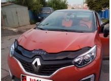 Дефлектор капота Renault Captur /2013+/. Мухобойка Рено Каптур [Vip Tuning]