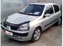 Дефлектор капота Renault Clio II /2001-2008, FL/. Мухобойка Рено Клио [Vip Tuning]