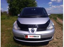Дефлектор капота Renault Espace IV /2002-2014/. Мухобойка Рено Эспейс [Vip Tuning]