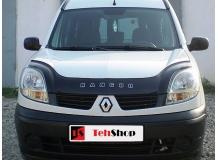 Дефлектор капота Renault Kangoo I /2003-2009, FL, длинный/. Мухобойка Рено Кенго [Vip Tuning]