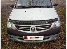 Дефлектор капота Renault Logan I /2004-2013/. Мухобойка Рено Логан [Vip Tuning]