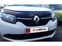 Дефлектор капота Renault Logan II /2013+/. Мухобойка Рено Логан [Vip Tuning]