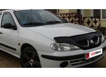 Дефлектор капота Renault Megane I /FL, 1999-2002/. Мухобойка Рено Меган [Vip Tuning]