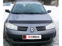 Дефлектор капота Renault Megane II /2002-2008/. Мухобойка Рено Меган [Vip Tuning]