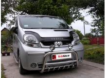 Дефлектор капота Renault Trafic II /длинный, 2001-2014/. Мухобойка Рено Трафик [Vip Tuning]