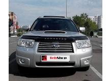 Дефлектор капота Subaru Forester II (SG) /FL, 2005-2008/. Мухобойка Субару Форестер [Vip Tuning]