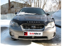 Дефлектор капота Subaru Outback III /2003-2009/. Мухобойка Субару Аутбек [Vip Tuning]