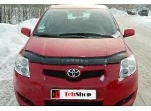 Дефлектор капота Toyota Auris I (E15) /2007-2010/. Мухобойка Тойота Аурис [Vip Tuning]