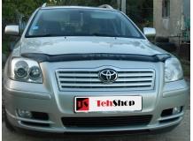 Дефлектор капота Toyota Avensis II (T25) /2003-2009/. Мухобойка Тойота Авенсис [Vip Tuning]