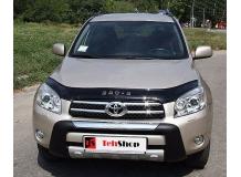 Дефлектор капота Toyota RAV4 III /2006-2010/. Мухобойка Тойота РАВ4 [Vip Tuning]