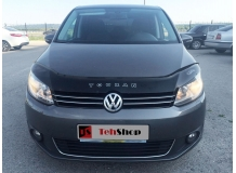 Дефлектор капота Volkswagen Cross Touran I /2010-2015, FL/. Мухобойка Фольксваген Кросс Туран [Vip Tuning]