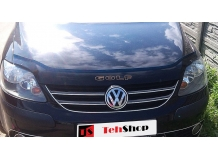 Дефлектор капота Volkswagen Golf Plus /2004-2014/. Мухобойка Фольксваген Гольф Плюс [Vip Tuning]
