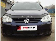 Дефлектор капота Volkswagen Golf V /2003-2008/. Мухобойка Фольксваген Гольф [Vip Tuning]