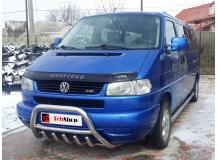 Дефлектор капота Volkswagen Multivan T4 /1996-2003, FL/. Мухобойка Фольксваген Мультиван [Vip Tuning]