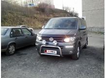 Дефлектор капота Volkswagen Multivan T5 /2009-2015, FL, T1/. Мухобойка Фольксваген Мультиван [Vip Tuning]