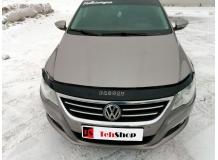 Дефлектор капота Volkswagen Passat CC /2008-2012/. Мухобойка Фольксваген Пассат СС [Vip Tuning]