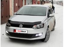 Дефлектор капота Volkswagen Polo V /2009-2014/. Мухобойка Фольксваген Поло [Vip Tuning]