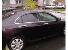 Дефлекторы окон Acura TSX I /2004-2008, Седан/. Ветровики Акура ТСХ [Cobra]