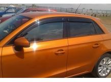 Дефлекторы окон Audi A1 (8X) /2012+, Хэтчбек/. Ветровики Ауди А1 [Cobra]
