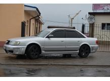 Дефлекторы окон Audi A6 (C4) /Седан, 1994-1997/. Ветровики Ауди А6 [Cobra]