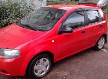 Дефлекторы окон Chevrolet Aveo I (T200/T250) /2002-2011, Хэтчбек/. Ветровики Шевроле Авео [Cobra]