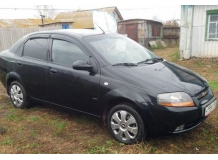 Дефлекторы окон Chevrolet Aveo I (T200) /2002-2005, Седан/. Ветровики Шевроле Авео [Cobra]