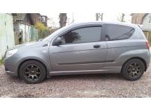 Дефлекторы окон Chevrolet Aveo I (T250) /2005-2011, 3D, FL/. Ветровики Шевроле Авео [Cobra]