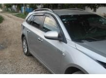 Дефлекторы окон Chevrolet Cruze /Универсал, 2012+/. Ветровики Шевроле Круз [Cobra]