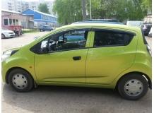 Дефлекторы окон Chevrolet Spark III /2009-2015/. Ветровики Шевроле Спарк [Cobra]