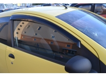 Дефлекторы окон Citroen C1 I /3D, 2005-2008/. Ветровики Ситроен С1 [Cobra]