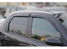 Дефлекторы окон Fiat Albea /2007+, Седан/. Ветровики Фиат Албеа [Cobra]