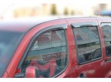 Дефлекторы окон Fiat Doblo I /2000-2015, 5D/. Ветровики Фиат Добло [Cobra]