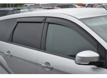 Дефлекторы окон Ford Focus II /2004-2011, Универсал/. Ветровики Форд Фокус [Cobra]