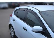 Дефлекторы окон Ford Focus III /2011+, Седан, Хэтчбек/. Ветровики Форд Фокус [Cobra]