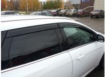Дефлекторы окон Ford Focus III /2011+, Универсал/. Ветровики Форд Фокус [Cobra]