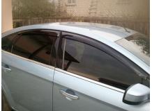 Дефлекторы окон Ford Mondeo IV /Седан, 2007-2014/. Ветровики Форд Мондео [Cobra]