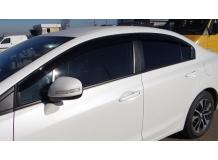 Дефлекторы окон Honda Civic IX /2012-2015, Седан/. Ветровики Хонда Цивик [Cobra]