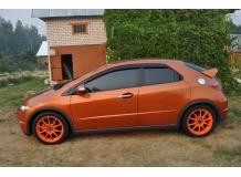 Дефлекторы окон Honda Civic VIII /2006-2011, Хэтчбек/. Ветровики Хонда Цивик [Cobra]