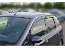 Дефлекторы окон Honda Jazz II /2007-2013/. Ветровики Хонда Джаз [Cobra]