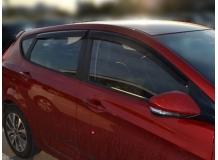 Дефлекторы окон Hyundai Accent IV (Solaris) /2011-2017, Хэтчбек/. Ветровики Хюндай Акцент [Cobra]