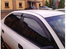 Дефлекторы окон Hyundai Elantra XD /2000-2006, Седан/. Ветровики Хюндай Элантра [Cobra]