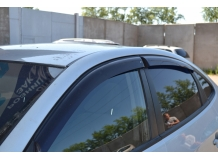 Дефлекторы окон Hyundai Elantra HD /2006-2010, Седан/. Ветровики Хюндай Элантра [Cobra]