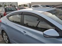Дефлекторы окон Hyundai Elantra MD /2010-2015, Седан/. Ветровики Хюндай Элантра [Cobra]