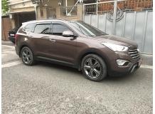 Дефлекторы окон Hyundai Grand SantaFe III /2013-2018/. Ветровики Хюндай Гранд СантаФе [Cobra]