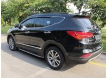 Дефлекторы окон Hyundai SantaFe III /2012-2018/. Ветровики Хюндай СантаФе [Cobra]